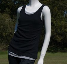 Fitted Vest Tee - Black - 5.00 €