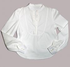 Round Neck Bib Shirt - White - 35.00&nbsp;&euro;