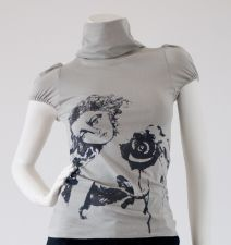 Polo with Churub Print - Silver Grey - 25.00&nbsp;&euro;
