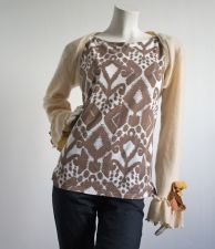 Ikat V Back  Top - Coffee & Cream - 5.00 €