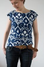 Ikat V Back  Top - Navy - 5.00 €