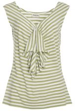 Striped Waterfall Top - Green - 5.00&nbsp;&euro;