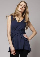 Cross Drape Tunic - Cobalt Blue - 15.00&nbsp;&euro;