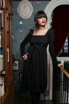 Dresses: Rose Dress Black from LES FEES DE BENGALE .:. belleEtik .:. Fair Trade & Environmentally Friendly Fashion