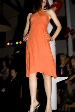 Halter Neck Dress (Only 1 in Stock - Size 8-10) - Orange - 38.00 €