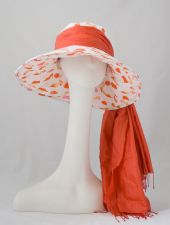 Riveria Sun Hat - Orange - Shoe Pattern - 10.00 €