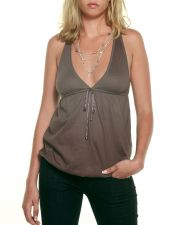 Racer Back Top - Taupe Brown - 25.00&nbsp;&euro;