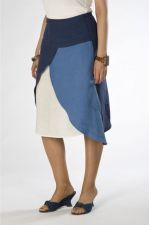 A-line Skirt - Irish Linen - Blue - 65.00 €