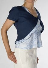 Blue Bolero - Irish Linen - Blue - 30.00 €
