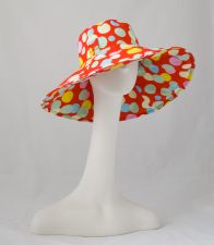 Riveria Sun Hat - Polka Dot - Red - 10.00 €