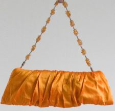 """Cocktail"" - Silk clutch - Orange - 35.00 €"