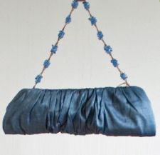 """Cocktail"" - Silk clutch - Sky Blue - 15.00 €"