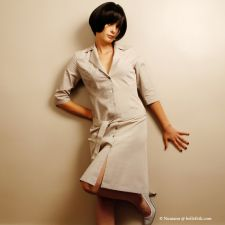 Shirt Dress - Pale Tan - 38.00 €