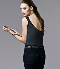 Double Layer Tank Top - Black & Dark Shadow - 25.00 €