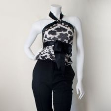 Silk Scarf Top - Black - Size S - 35.00 €