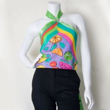 Silk Scarf Top - Green - Size S - 35.00€