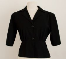 Black Gaberdine Jacket - Black - 50.00€