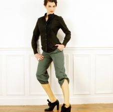 Cropped  trousers - Forest Green - 38.00€