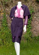 Tulip Skirt - Irish Linen - Purple - 75.00€