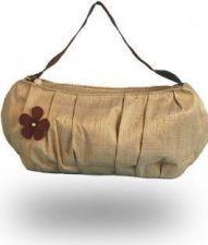 """Bombay"" Raw Silk Shoulder Bag - Rich Tea - 35.00€"
